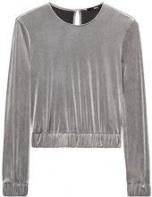 FIND 24865 magliette donna, Grigio (Grey), 40 (Taglia Produttore: X-Small)