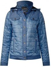 Cecil 200344, Cappotto Donna, Blu (Denim Blue Optic 11219), Medium