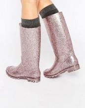ASOS - GROOVY - Stivali in gomma glitterati