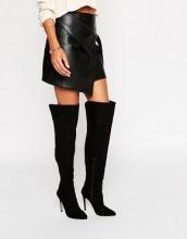 Lipsy - Stivali sopra il ginocchio con tacco e pannelli