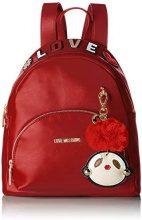 Love Moschino Borsa Pu - Borse a zainetto Donna, Rosso, 13x31x33 cm (B x H T)