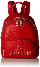 Love Moschino Borsa Grain Pu - Borse a zainetto Donna, Rosso, 10x32x28 cm (B x H T)