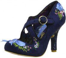 Irregular Choice Beryll Blossom, Mary Jane Donna, Blu (Blue B), 38 EU
