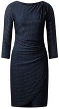Street One Jaquard Jersey Dress with Gatherings, Vestito Donna, Blau (Night Blue 10109), 50 (Taglia Produttore: 44)