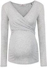 Bellybutton Laila-Stillshirt 1/1 Arm, Maglietta a Maniche Lunghe Premaman Donna, Grigio (Light Gray Melange 8100), 46 (Taglia Produttore: L)