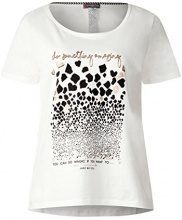 Street One 312032, T-Shirt Donna, Multicolore (off White 20108), 40 IT