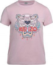 T-shirt Kenzo Tiger in cotone rosa con stampa multicolore