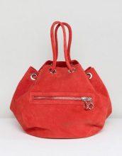 Maxi borsa rossa scamosciata