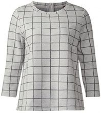 Street One 311972, Maglione Donna, Multicolore (Cyber Grey Melange 20767), 42