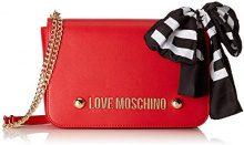 Love Moschino Borsa Soft Grain Pu - Borse a spalla Donna, Rosso, 7x19x29 cm (B x H T)