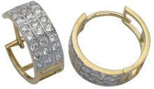 E-10290 - Orecchini da donna, oro giallo 9k (375)