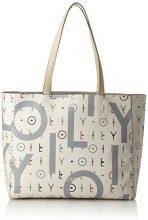 Oilily Jolly Letters Shopper Lhz - Borsa Donna, Bianco (Offwhite), 14x30x46 cm (B x H T)