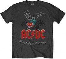 AC/DC Fly On The Wall, T-Shirt Uomo, Nero (Charcoal Black), Small