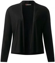 Street One 311627, Cardigan Donna, Nero (Black 10001), 48