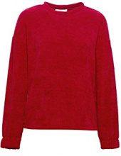 ESPRIT 098ee1j005, Felpa Donna, Rosso (Dark Red 610), Medium