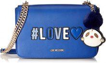 Love Moschino Borsa Pu - Borse a secchiello Donna, Blu, 6x18x29 cm (B x H T)