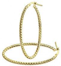 Citerna Orecchini a Cerchio da Donna, Oro Giallo, 9 Carati 375