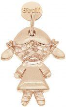 La mia bimba. Charm in argento 925 rosato diamantato per Donna