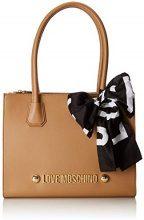 Love Moschino Borsa Soft Grain Pu - Borse Tote Donna, Marrone (Cammello), 13x27x33 cm (B x H T)