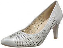 CAPRICE 22502, Scarpe con Tacco Donna, Grigio (Lt Grey Patent 242), 37 EU