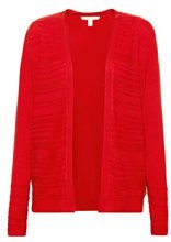 ESPRIT 088ee1i026, Cardigan Donna, Rosso (Red 2 631), Medium