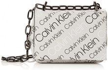 Calvin Klein Jeans Ck Candy Small Crossbody Logo - Borse a tracolla Donna, Nero (Logo Print Black), 8x16x18 cm (B x H T)