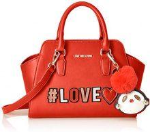 Love Moschino Borsa Pu - Borsette da polso Donna, Rosso, 12x21x34 cm (B x H T)