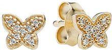 Donne-studs Pandora Petite Schmettelinge oro 585 oro giallo Cubic Zirconia - bianco 250320CZ