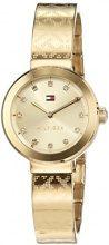 Orologio da donna al quarzo Tommy Hilfiger 1781720, con visualizzazione analogica classica e cinturino placcato in oro.