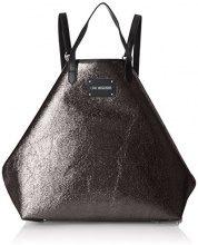 Love Moschino Borsa Glitters Pu Nero - Borse a zainetto Donna, (Black), 15x35x45 cm (B x H T)