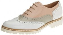 Gadea 40658, Scarpe Oxford Donna, Multicolore (Charol Blanco/Charol Grey), 39 EU