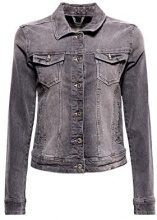 edc by Esprit 028cc1g011, Giacca in Jeans Donna, Grigio (Grey Light Wash 923), Medium