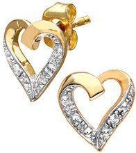 Naava Orecchini a Lobo da Donna in Oro Giallo 9K con Diamante