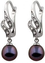 Bella Pearls FINEEARRING, argento, colore: black, cod. ESR-57B