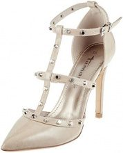 Tamaris 24409-21, Scarpe con Cinturino alla Caviglia Donna, Beige (Nude Patent 253), 36 EU
