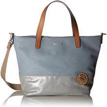 Mustang Bennsville Mason Handbag Mhz - Borsette da polso Donna, Grigio (Grey), 12x26x38 cm (B x H T)
