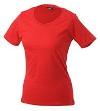 James & Nicholson Workwear-T Women, T-Shirt Donna, (Rosso), 46 (Taglia Produttore: XL)