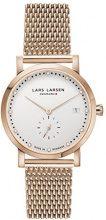 Lars Larsen 137RWRM - Orologio da polso da donna, cinturino in rivestito in acciaio inox colore oro