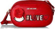 Love Moschino Borsa Pu - Borse a spalla Donna, Rosso, 6x13x21 cm (B x H T)
