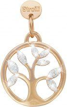 L'albero della vita. Charm in argento 925 rosato e glitter per Donna