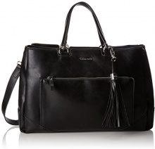 Tamaris Melanie Business Bag - Borsa Donna, Schwarz (Black), 12x28x42 cm (B x H T)