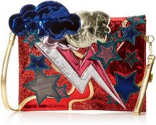 Irregular Choice Ziggy - Pochette da giorno Donna, Rosso (Red/Gold), 3x26x30 cm (W x H L)