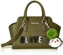 Love Moschino Borsa Pu - Borsette da polso Donna, Verde, 12x21x34 cm (B x H T)