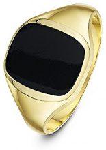 Theia Uomo 9 carati oro giallo cuscino nero Onice