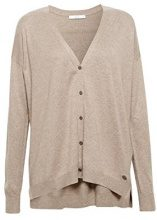 edc by Esprit 078cc1i004, Cardigan Donna, Marrone (Taupe 5 244), Small