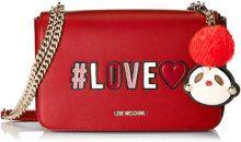 Love Moschino Borsa Pu - Borse a secchiello Donna, Rosso, 6x18x29 cm (B x H T)