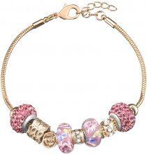 Bracciale charms in metallo rosato, resina e cristalli per Donna