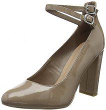 New Look Wide Foot Strappz, Scarpe col Tacco Punta Chiusa Donna, Marrone (Light Brown 21), 39 EU