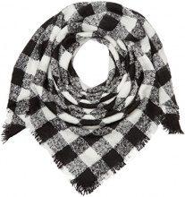 Tom Tailor Denim squared checked scarf, Foulard Donna, Avorio (off white), Taglia unica (Taglia Produttore: OneSize)
