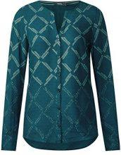 Cecil Check Degradee Blouse, Camicia Donna, Grün (Emerald Green 21023), Small